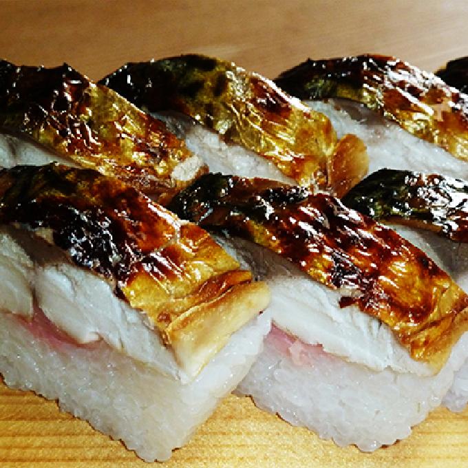 【ふるさと納税】焼き鯖棒寿司 2本入り 【魚貝・加工品・すし・ぼうずし・さば・サバ・押し寿司】