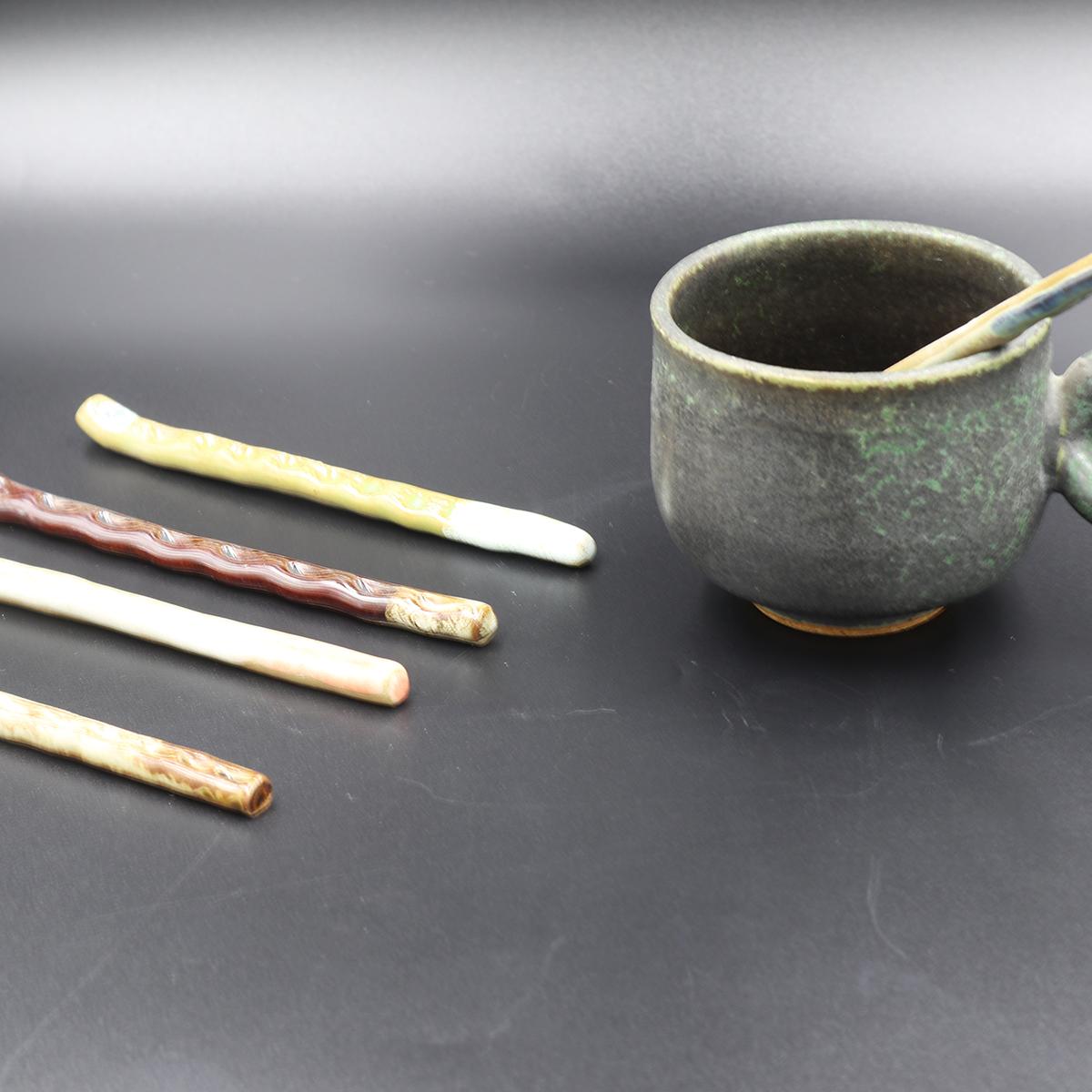 【ふるさと納税】マドラー 陶器 5本 セット 焼火窯
