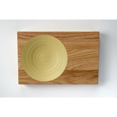 食卓をカフェのように演出し、キャンプやベランピングにも映える木製プレート。 【ふるさと納税】晴れの日のパスタ皿【オーク/マスタード】【1234494】