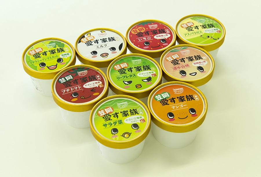 【ふるさと納税】A-35 笠岡ジェラート工房ハッピーのカップアイス(愛す家族)9個セット