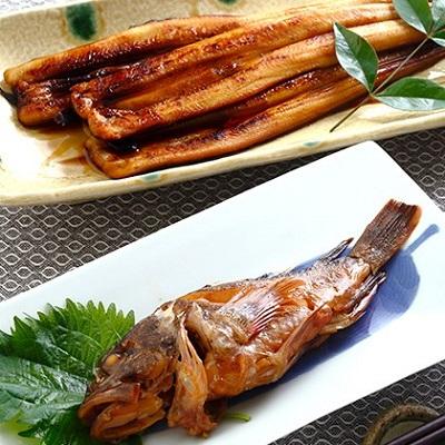 【ふるさと納税】焼きあなご240gとおまかせ煮魚2尾 【魚貝類・魚介類・穴子・セット】