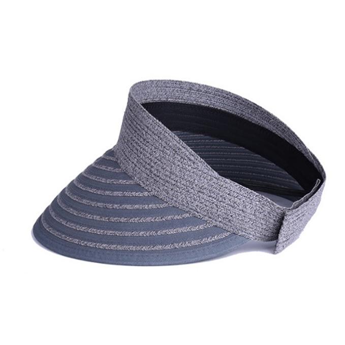 【ふるさと納税】天然 クルクルバイザー 帽子 グレー 【ファッション・ファッション小物】