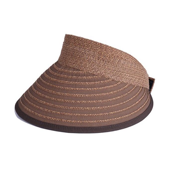 【ふるさと納税】天然 クルクルバイザー 帽子 ブラウン 【ファッション・ファッション小物】