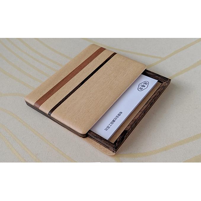 【ふるさと納税】木製 寄木 名刺入れ・カードケース 【A】 【工芸品・民芸品・雑貨・日用品】