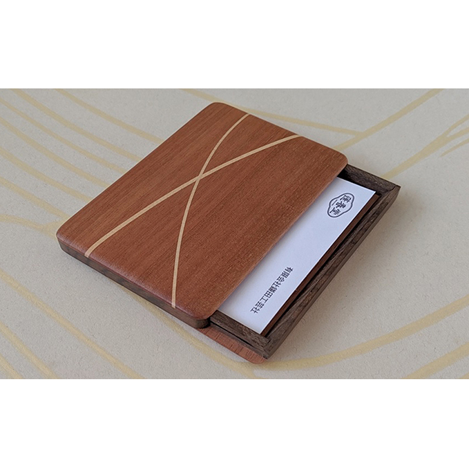 【ふるさと納税】木製 寄木 名刺入れ・カードケース 【F】 【工芸品・民芸品・雑貨・日用品】