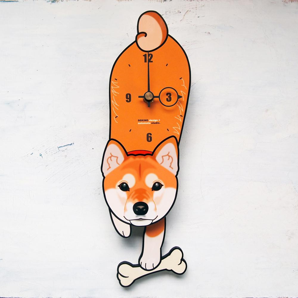 【ふるさと納税】D-002 柴犬-犬の振り子時計, 造花の店azuma 1ed0498a