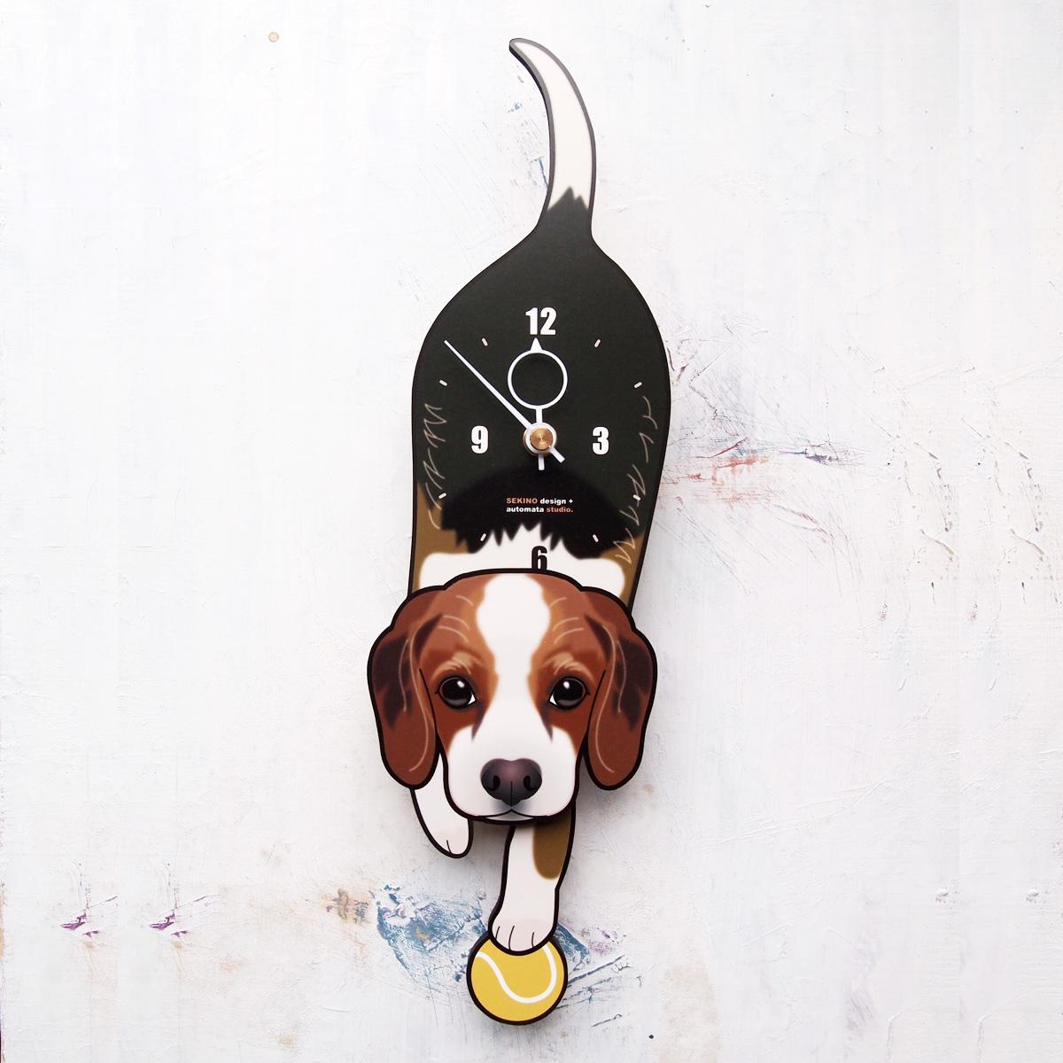 手の部分が振り子になった壁掛け用時計 期間限定で特別価格 ふるさと納税 D-149 ビーグル-犬の振り子時計 日本最大級の品揃え