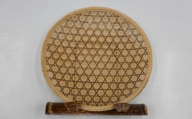 F390 竹工芸品 飾り皿