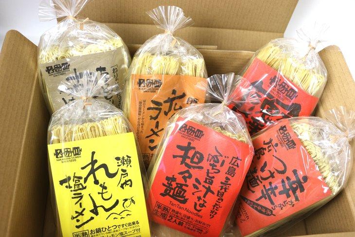 【ふるさと納税】瀬戸内麺工房なか川「熟成本格麺ぶち旨セット」(6袋/12食·スープ、たれ付き) 【東京でも販売の人気商品】