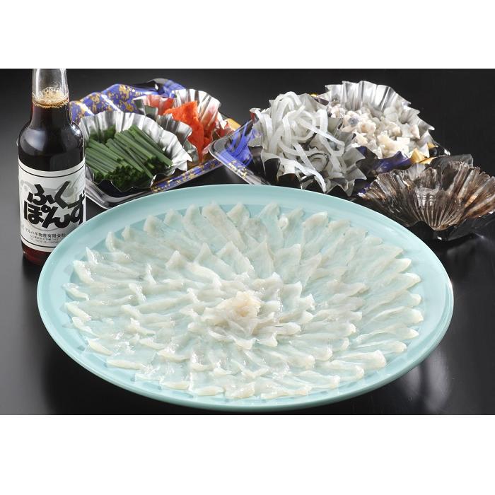 C-007【ふるさと納税】とらふぐの刺身(33cmプラ皿)