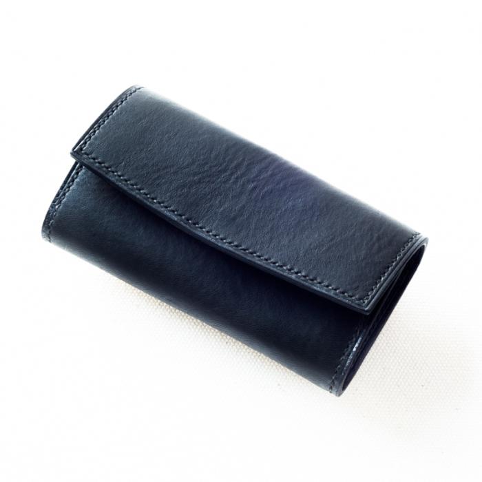 【ふるさと納税】本藍染イタリアンレザーのキーケース【本革・手縫い】 L005a