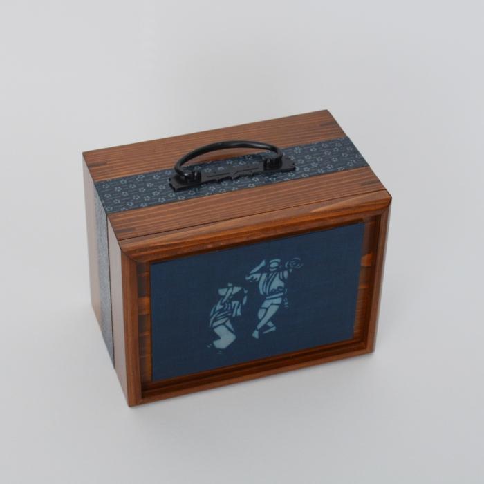 【ふるさと納税】遊山箱(阿波おどり) 本藍染布張り J003a