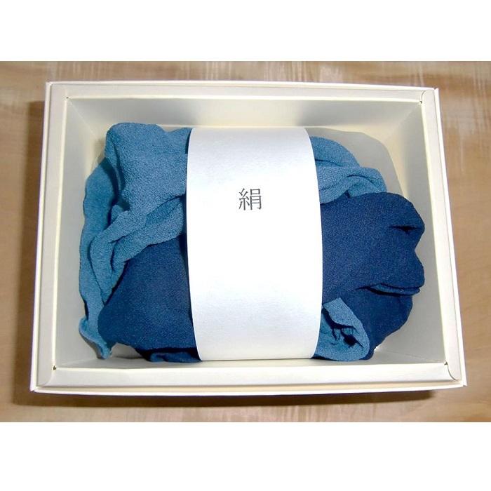 【ふるさと納税】Bb014a 【阿波藍 ふわふわシルクスカーフ】天然100%阿波藍染め