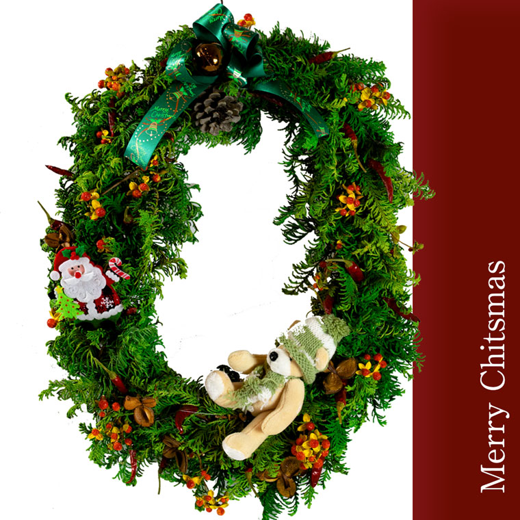 【ふるさと納税】クリスマスリース typeB 12月中旬頃から順次発送 ※クレジット決済のみ