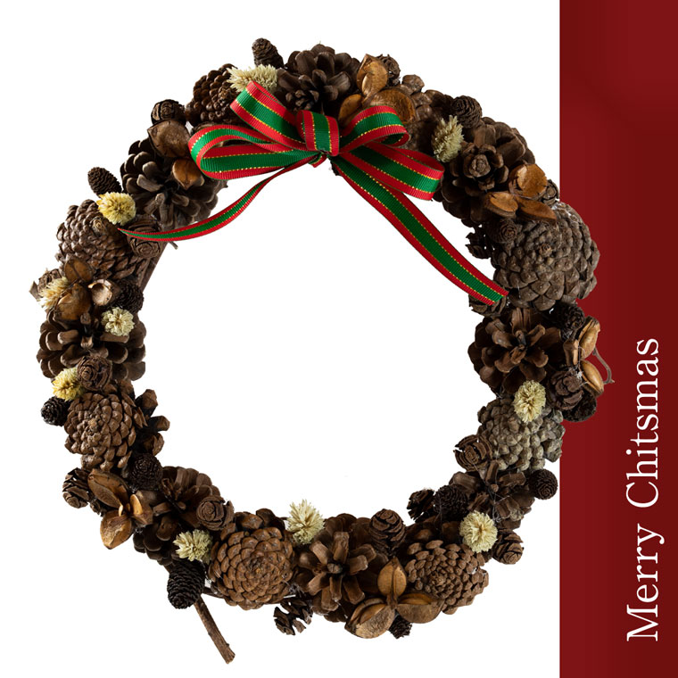 【ふるさと納税】クリスマスリース typeC 12月中旬頃から順次発送 ※クレジット決済のみ