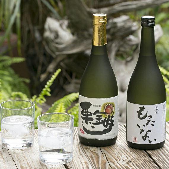 【ふるさと納税】020-004 芋・栗焼酎(栗金時)と米焼酎(もったいない)2本セット