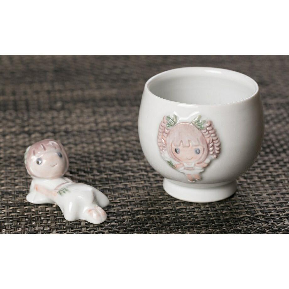 【ふるさと納税】020-026 ふじっこちゃん湯飲み&箸置きセット
