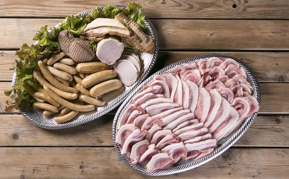 【ふるさと納税】030-005 ドイツ仕込みの無添加ハム&ソーセージ&阿波美豚精肉セットC