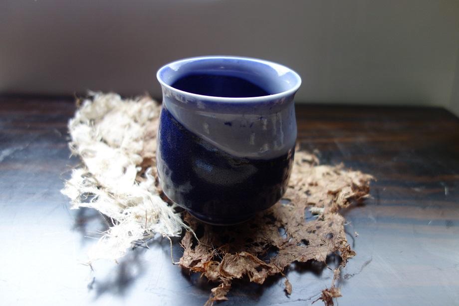 【ふるさと納税】015-039 藍灰瑠璃湯呑み