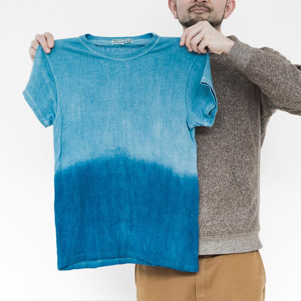 【ふるさと納税】IBB24 空海藍オーガニックヘンプコットンTシャツ(男女兼用)【伝統工芸】