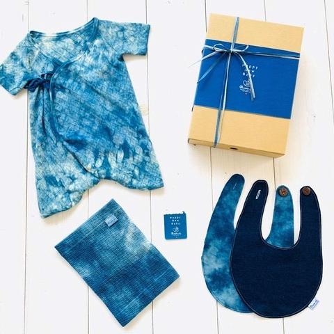 【ふるさと納税】IBB30 Awaii Baby Gift Box 肌着・腹巻・スタイ 3点セット【伝統工芸】