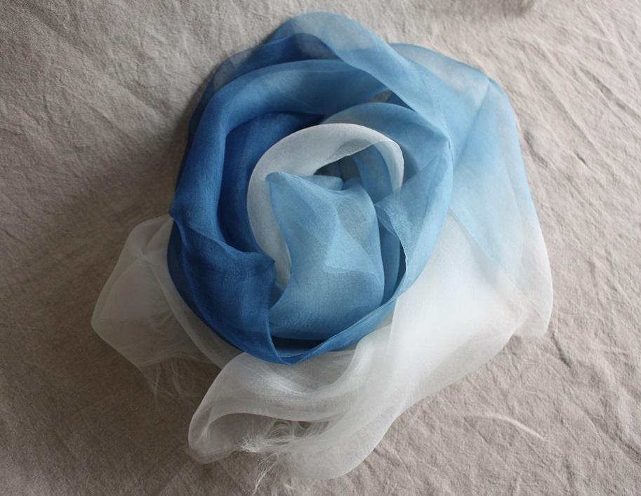 ふるさと納税 TTS56 あまべ藍ストール シルク UMIKAZE 伝統工芸 クリスマス 30%OFFクーポン! 通学 記念品