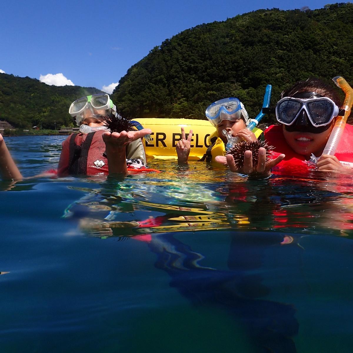 【ふるさと納税】KNP07 徳島最南端の海でスノーケリング(ボート)!