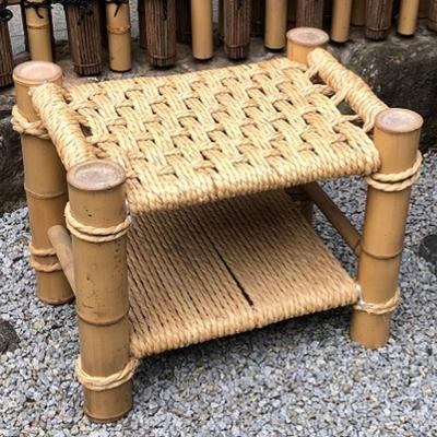 【ふるさと納税】【竹工芸品】竹とい草の椅子 【インテリア・家具】