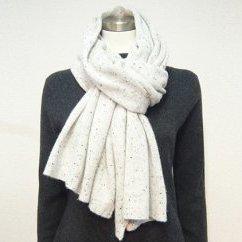 【ふるさと納税】カシミヤガーゼ編みマフラー 【ファッション・小物】