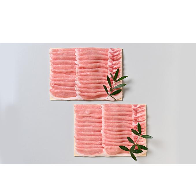 香川県東かがわ市 限定品 ふるさと納税 オリーブ豚ロースしゃぶしゃぶ用 1200g 600g×2 お肉 豚肉 ロース しゃぶしゃぶ 激安☆超特価