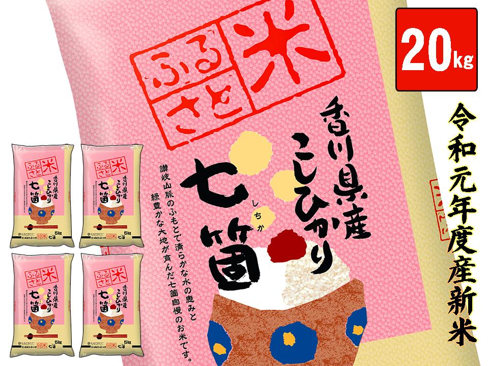 【ふるさと納税】令和元年度産 七箇産コシヒカリ 20kg