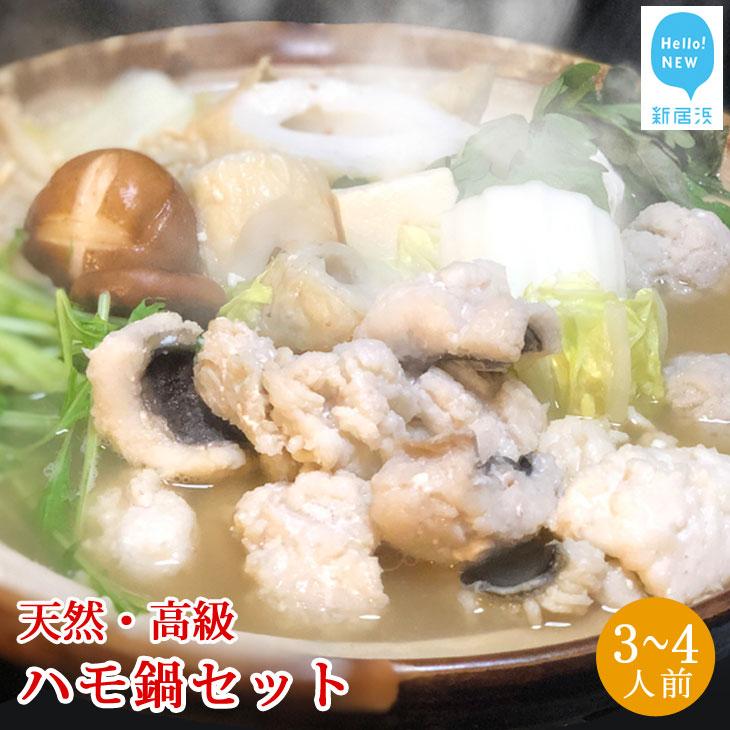 【ふるさと納税】せとぴち!オリジナル 天然ハモ鍋セット(3~4人前)