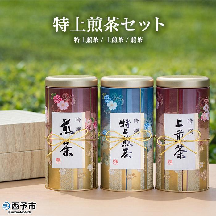 栽培から製造直売の明芳園のお茶をお試しください ふるさと納税 贈与 特上煎茶セット 正規認証品 新規格 ※1か月以内に順次出荷します お茶 緑茶 愛媛県 常温 西予市 日本茶 明芳園 特産品