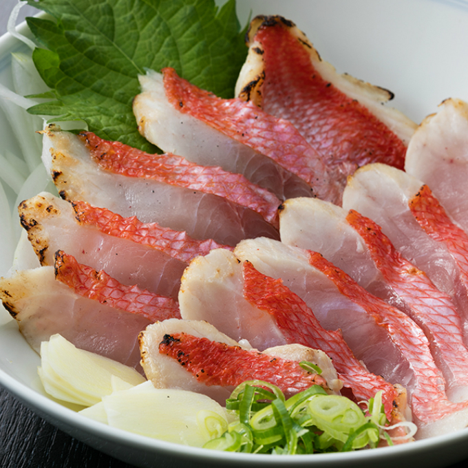 【ふるさと納税】HN047初音の金目鯛のたたき【チリ酢付き】<魚 魚介類 キンメダイ たたき 送料無料>