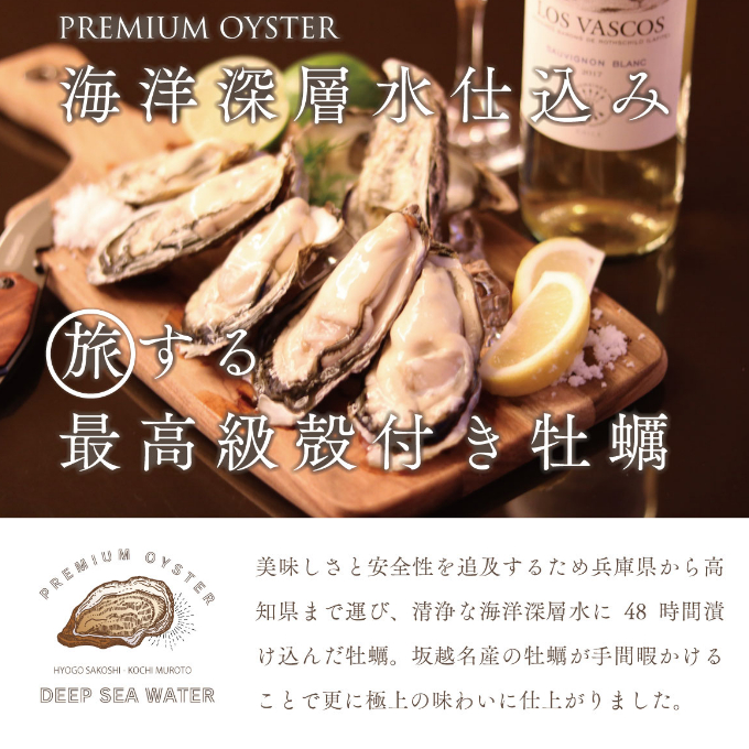 【ふるさと納税】AK−01殻付き牡蠣旅する牡蠣プレミアムオイスター(室戸海洋深層水)