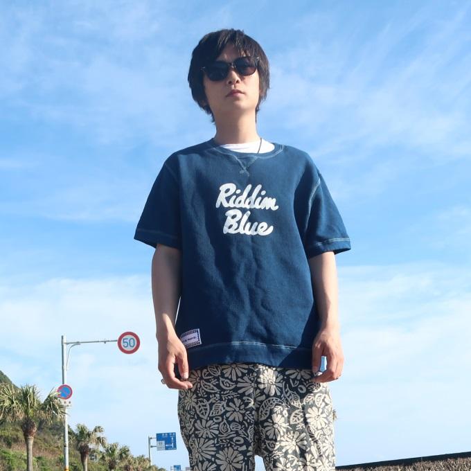 【ふるさと納税】AI002室戸オーガニック藍で染めた100%スウェットTシャツ
