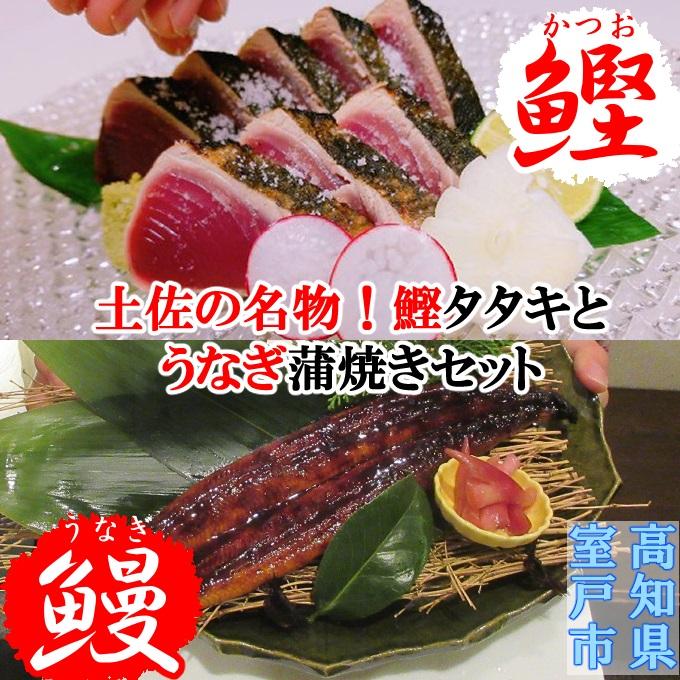 【ふるさと納税】土佐の鰹タタキ片身とうなぎ蒲焼きセット<SZ043>
