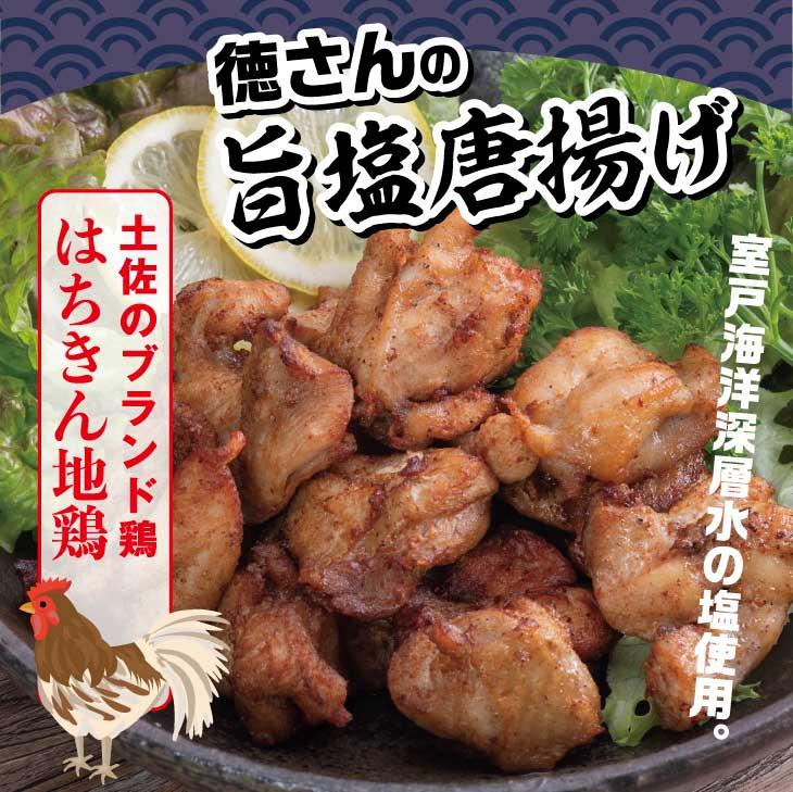 【ふるさと納税】YJ051はちきん地鶏徳さんの旨塩唐揚げ