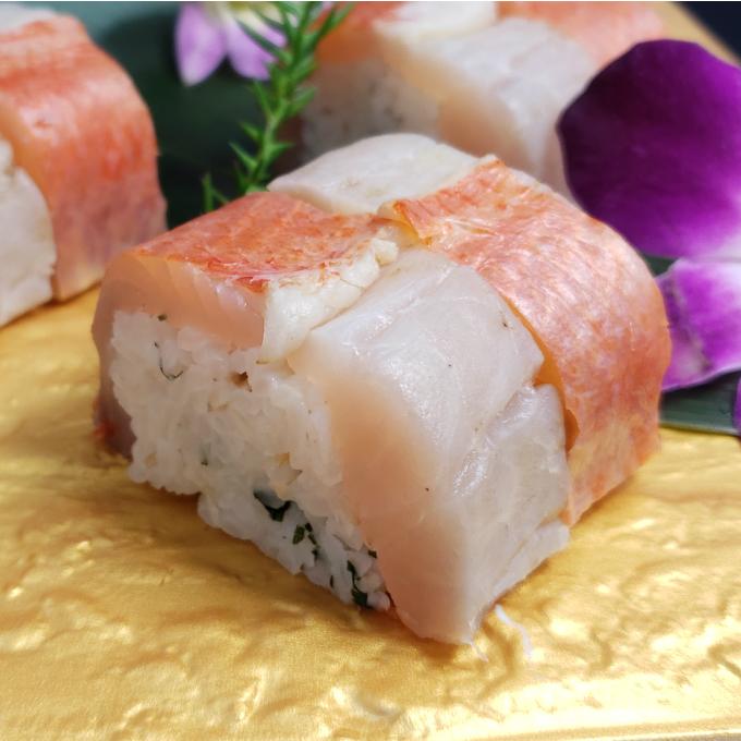 【ふるさと納税】SZ018室戸沖獲れ金目鯛の炙り寿司2本セット