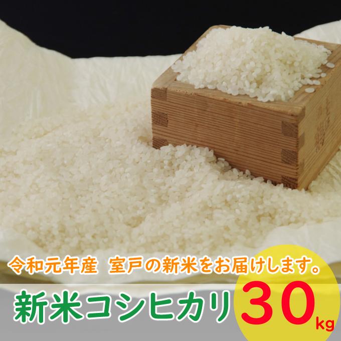 【ふるさと納税】TA014【コロナ支援用】室戸産新米コシヒカリ30kg<白米 米 30kg 送料無料>