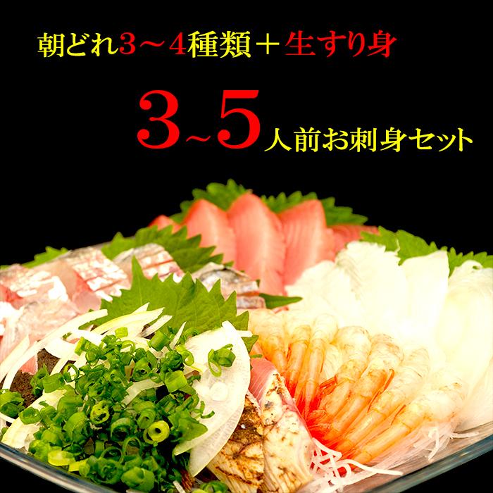 【ふるさと納税】朝どれ地魚3~4種類でお刺身セット!生すり身付き(A)