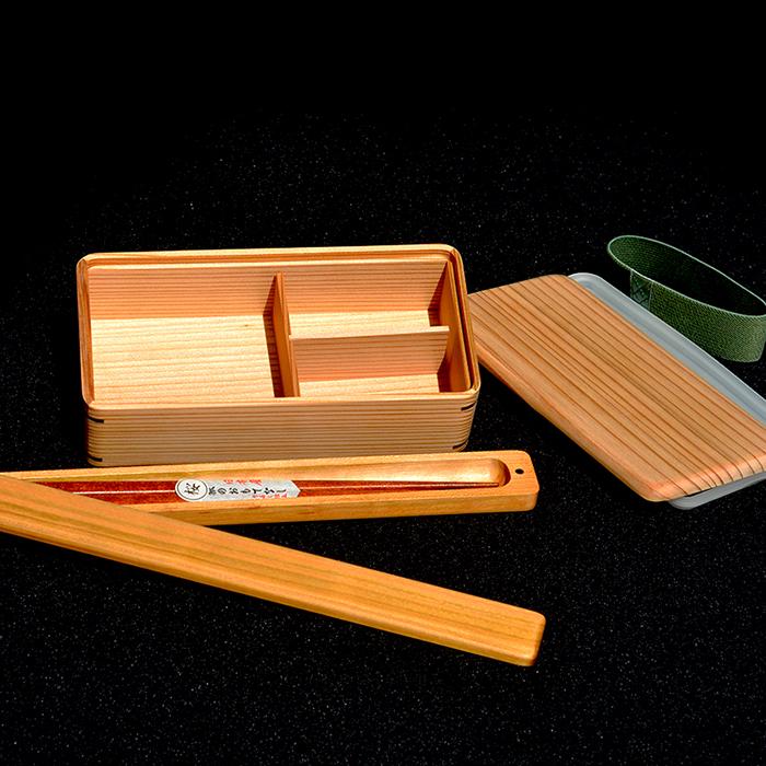【ふるさと納税】古材杉弁当箱・本桜箸箱・本桜箸セット