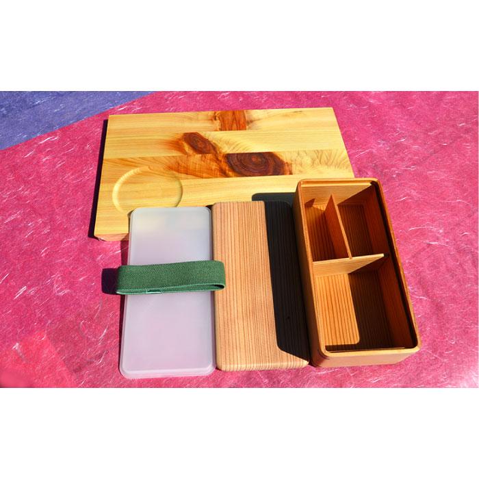 【ふるさと納税】土佐の天然素材シリーズ 杉の弁当箱、モーニングトレイ節セット