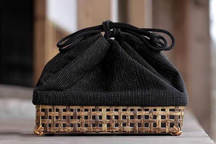 【ふるさと納税】虎竹巾着籠