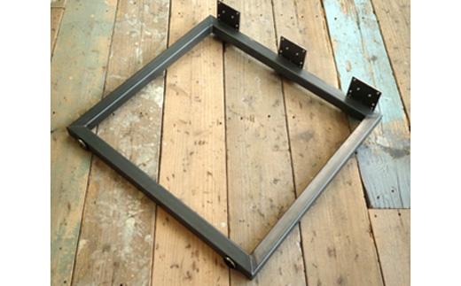 お洒落 極太40mm角の鋼パイプをふんだんに使用したスクエア型角パイプ鉄脚 ふるさと納税 COBA 2台セット 激安通販 ロ型 5.テーブル脚