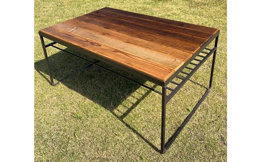 お部屋をカフェのような雰囲気にをコンセプトにデザインしたローテーブルです ふるさと納税 送料無料お手入れ要らず COBA 24.カフェテーブル 天板7枚仕様 ラッピング無料