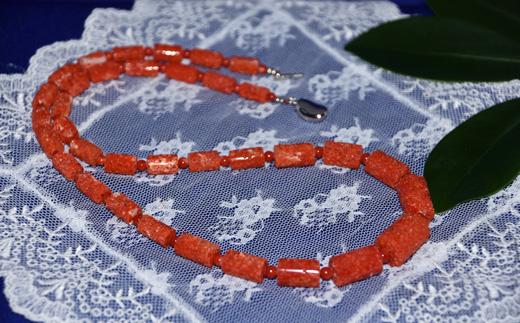 【驚きの価格が実現!】 【ふるさと納税】さんごの吉良:赤(虫くい)サンゴ筒型ネックレス(N-11), スマコレ 9cd6c096