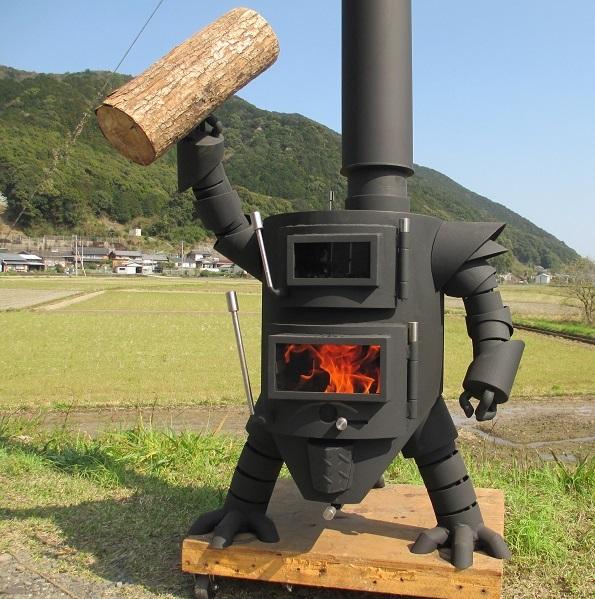 【ふるさと納税】【AZ-1】 ロボット型薪ストーブミニ