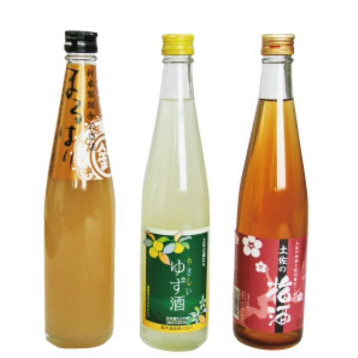 果実の香り酒500ml×3種セット【送料無料】日本酒カクテル B-226 【ふるさと納税】高知特産