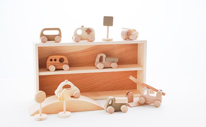 【ふるさと納税】くるまセット【木のおもちゃ・玩具】